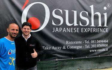 Ristorante 'Osushi in campo per sponsorizzare la academy di Pasquale Schiattarella