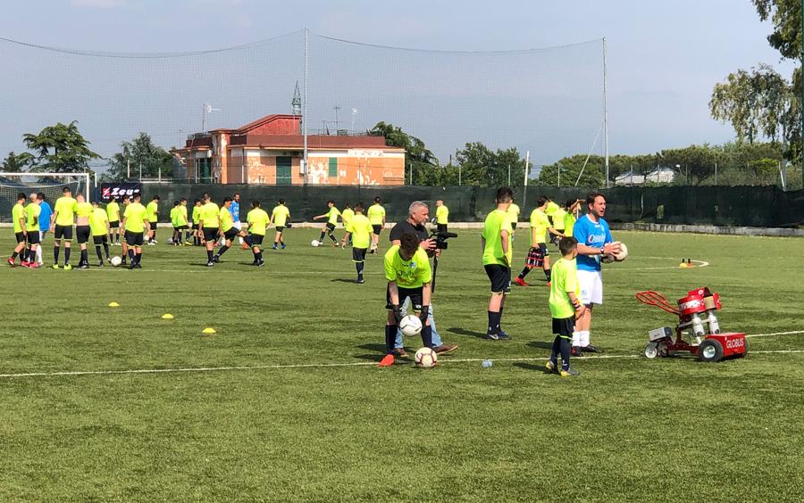 Inaugurazione scuola calcio napoletana di Pasquale Schiattarella